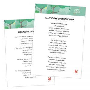 Kinderlieder Texte zum Ausdrucken