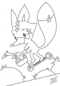 Ausmalbilder zum Ausdrucken: Fuchs & Gans (Fuchs, du hast die Gans gestohlen)