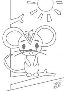 Ausmalbilder zum Ausdrucken: Maus (Fuchs, du hast die Gans gestohlen)